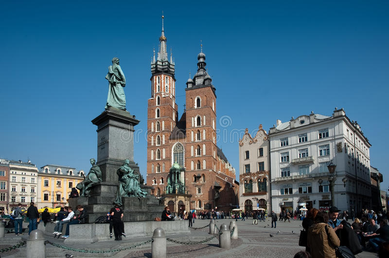 Download Krakow Old Town Square editorial photography. Image of maisto - 25111712