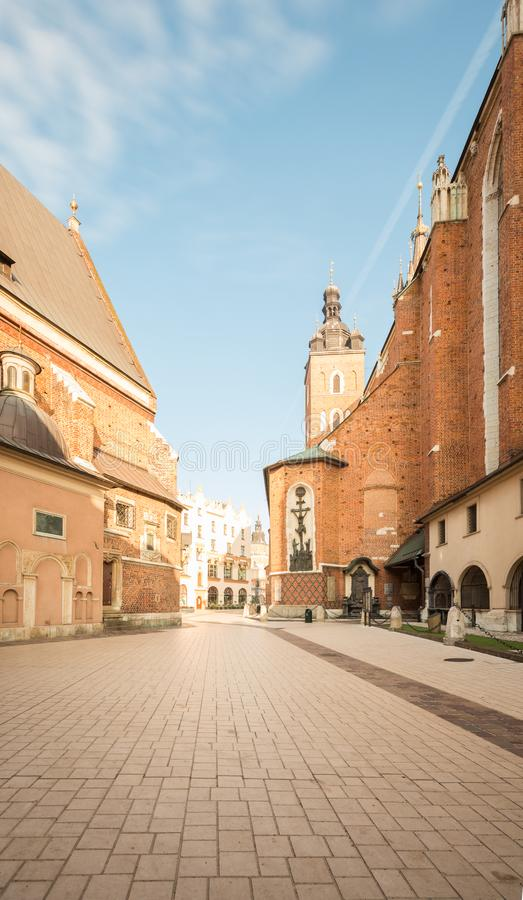 Krakow. Old town square. Krakow in Poland . Old town square stock image