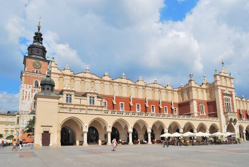 Krakow.  Pano Salão fotos de stock royalty free