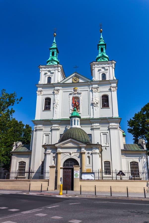Krakow-Polônia-St Florian Church imagem de stock