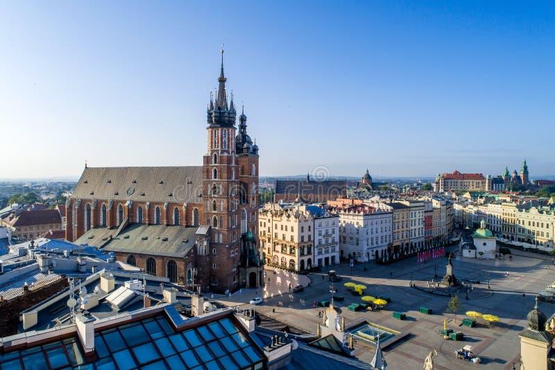 Krakow, Poland. Old city Market Square stock image