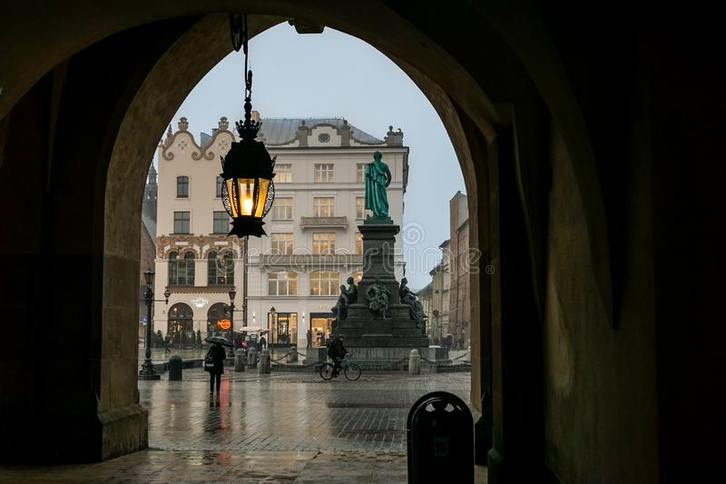 Krakow, Poland. Around town - center square royalty free stock photo