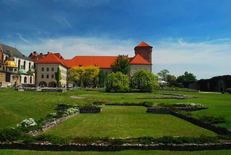 Krakow, Poland. Castelo e catedral de Wawel foto de stock royalty free