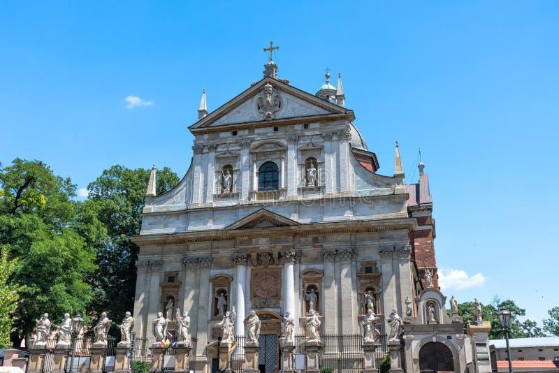 Krakow, Poland. Church of Saints Peter and Paul stock photo