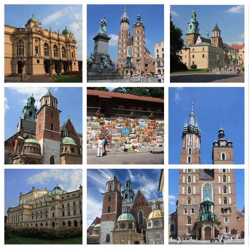 Krakow poland collage. Taken with eos 450D and made with photoshop cs4 royalty free illustration