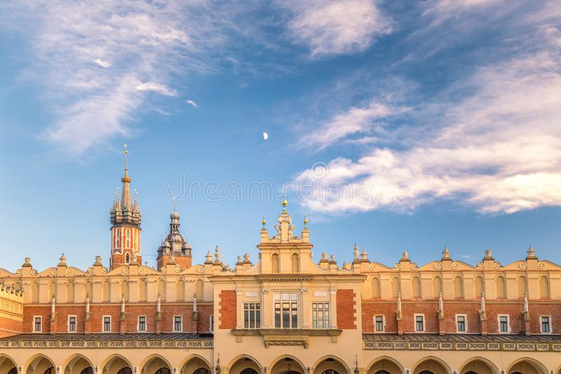 The Cloth Hall on the main in Krakow. royalty free stock photography
