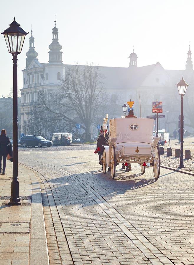krakow poland gammal stockholm gatatown royaltyfri fotografi