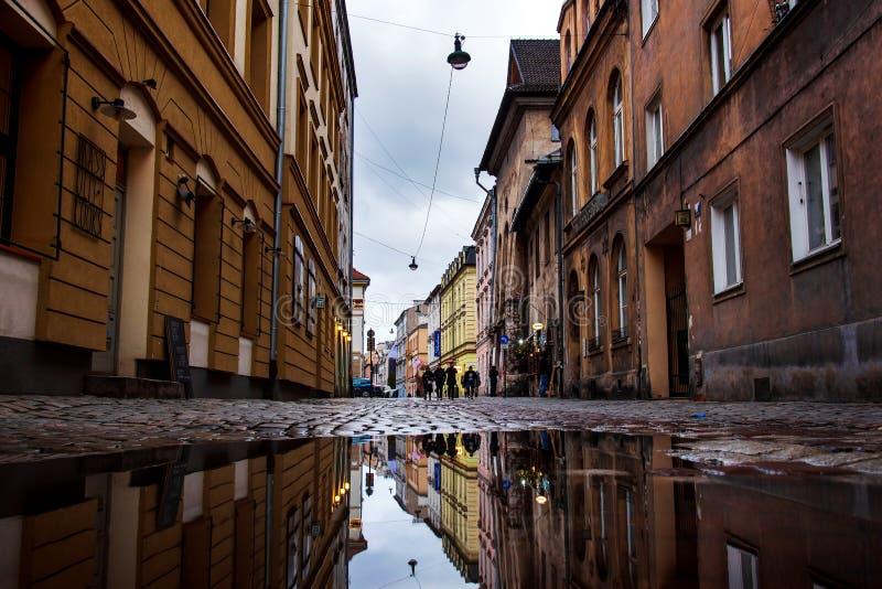 Krakow, Poland - January 2, 2019: Kazimierz the Former Jewish District architecture in Krakow, Poland stock image