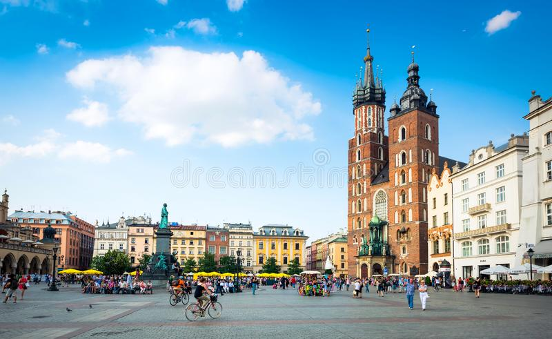 Church of St. Mary in Krakow stock photography