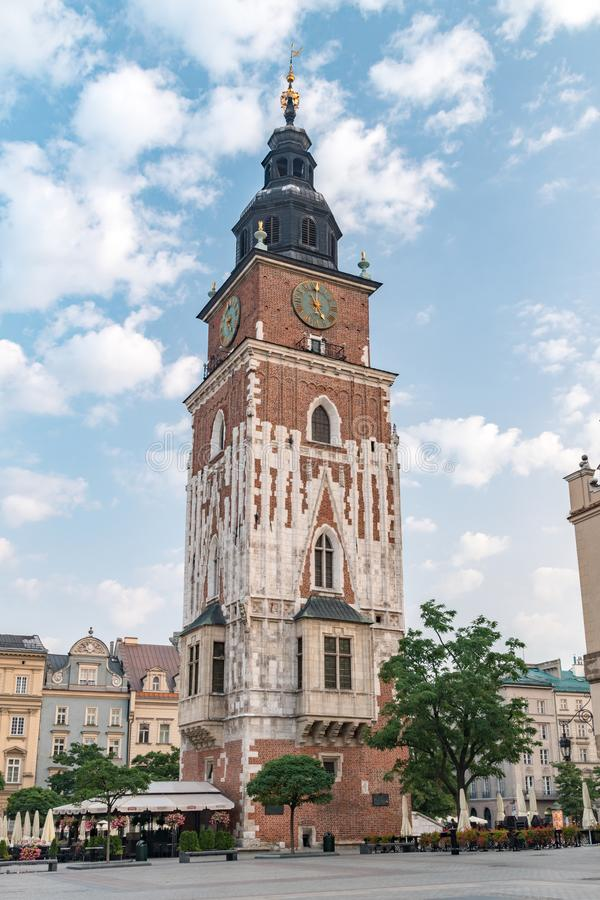 Town Hall Tower at Main Market Square in the Old Town royalty free stock photography