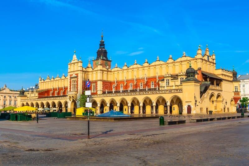 Krakow, Poland main market square, Cloth Hall. Krakow, Poland Cloth Hall and main market square Rynek Glowny panorama stock image
