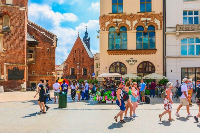 Krakow, Poland main market square stock photo