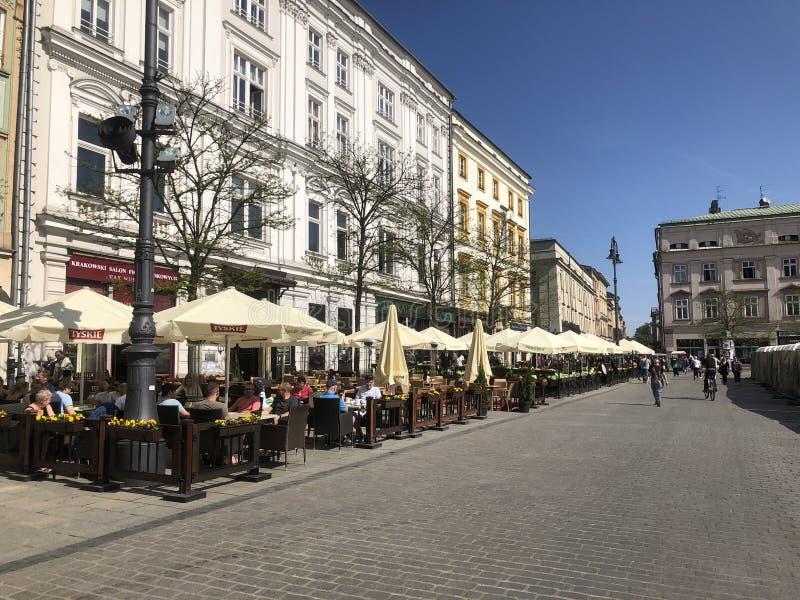 Krakow Poland. Main Square Krakow Poland stock photo