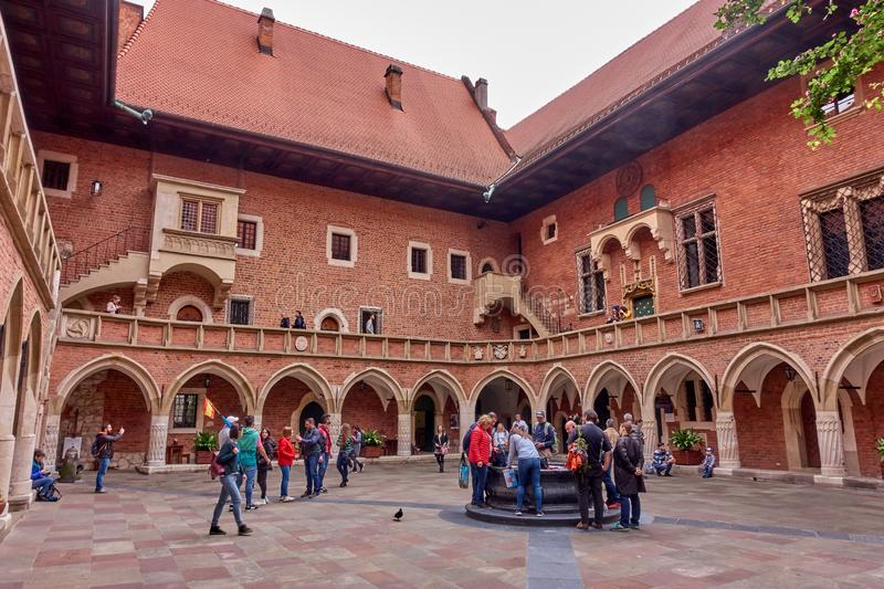 KRAKOW, POLAND - MAY 12, 2019: Main squer on 12 May 2019 in Krak royalty free stock images