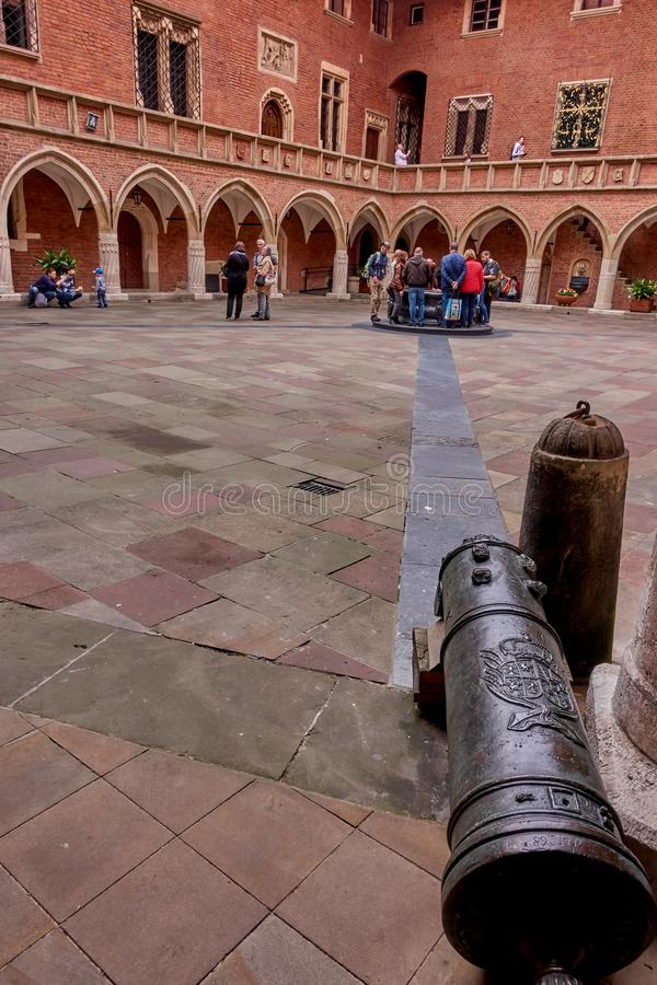 KRAKOW, POLAND - MAY 12, 2019: Main squer on 12 May 2019 in Krak stock photography