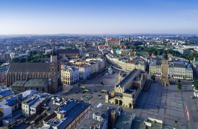 Krakow, Poland. Old city with main monuments stock photos