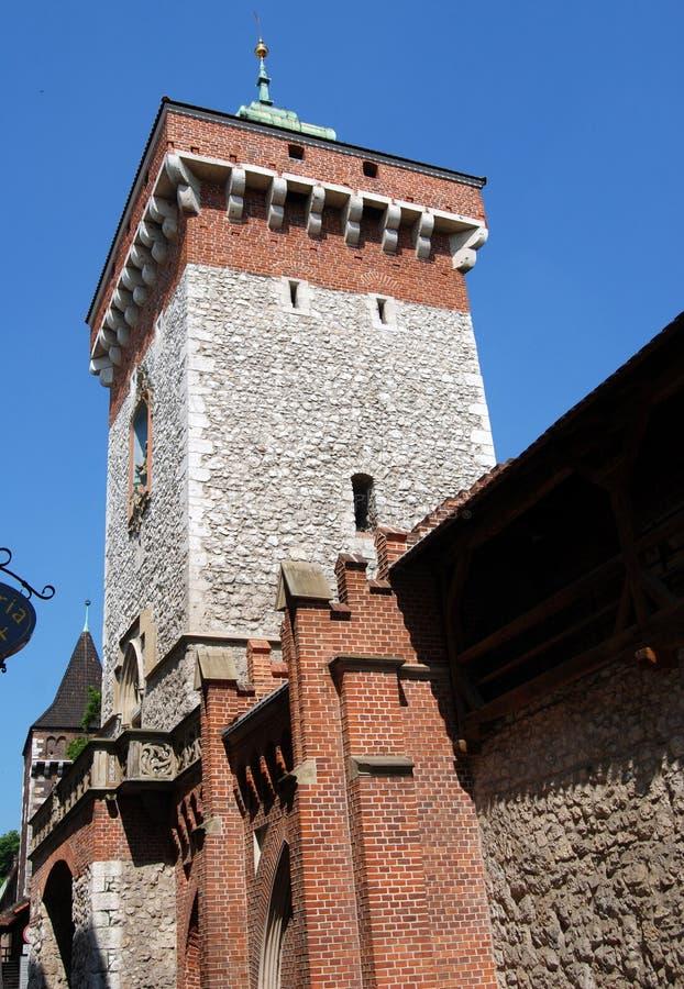 Krakow, Poland: Porta medieval de Florian imagem de stock royalty free