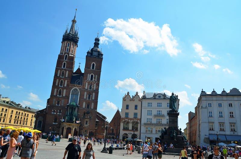 Krakow in Poland, Saint Mary basilica royalty free stock image