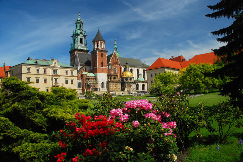 Krakow, Poland. Wawel cathedral and castle. Wawel castle and cathedral architectural complex, Krakow, Poland stock images