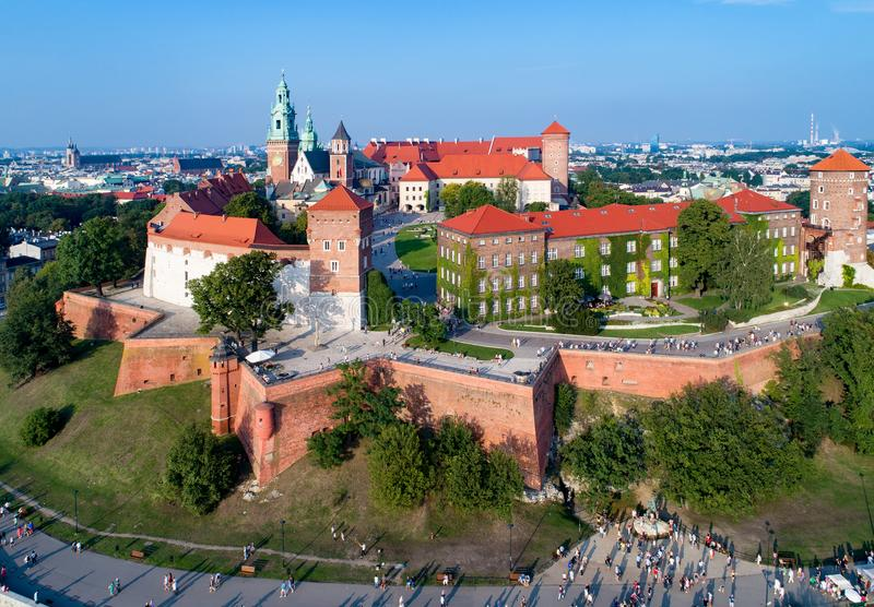 Krakow, Poland. Wawel Hill, Cathedral and Castle royalty free stock images