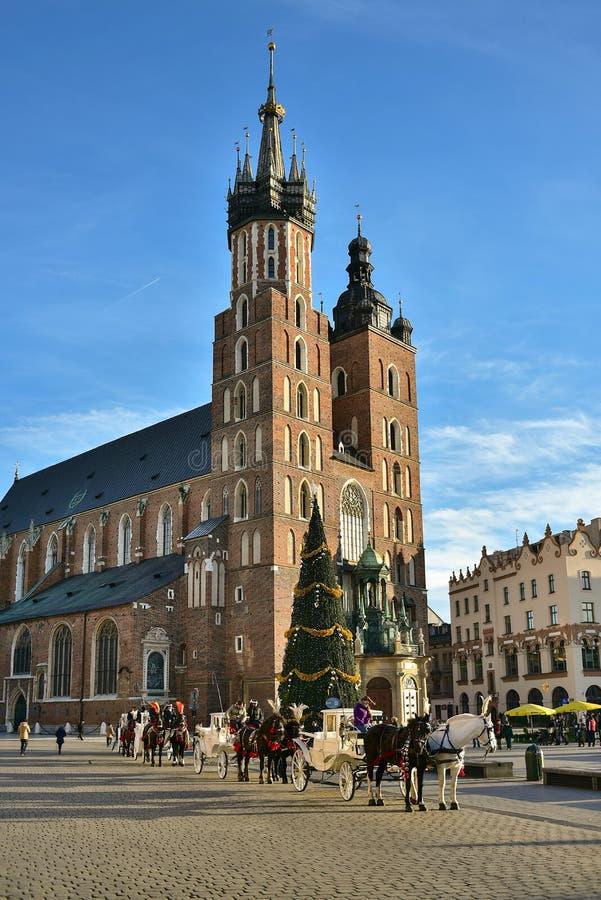 Krakow, Polska, świętego Maria kościół zdjęcie stock