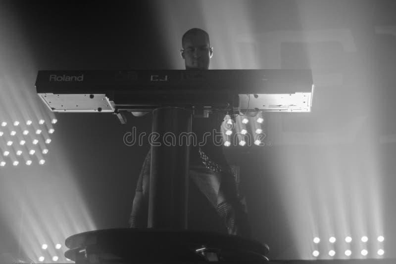 09-11-2017 Krakow Polska, Epica wykonuje w koncercie fotografia stock