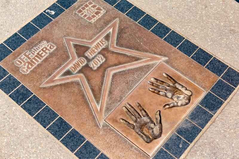 Krakow, Polska, 10 2019 Maj - spacer sława, aleja gwiazdy blisko Wawel Królewskiego kasztelu w Krakow, Polska obraz royalty free