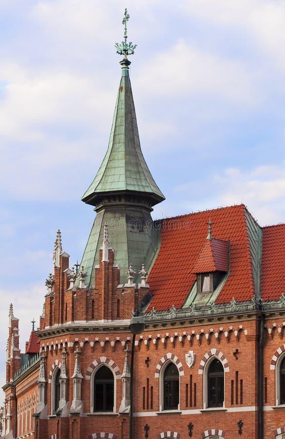 krakow pontificial universitetar royaltyfria bilder