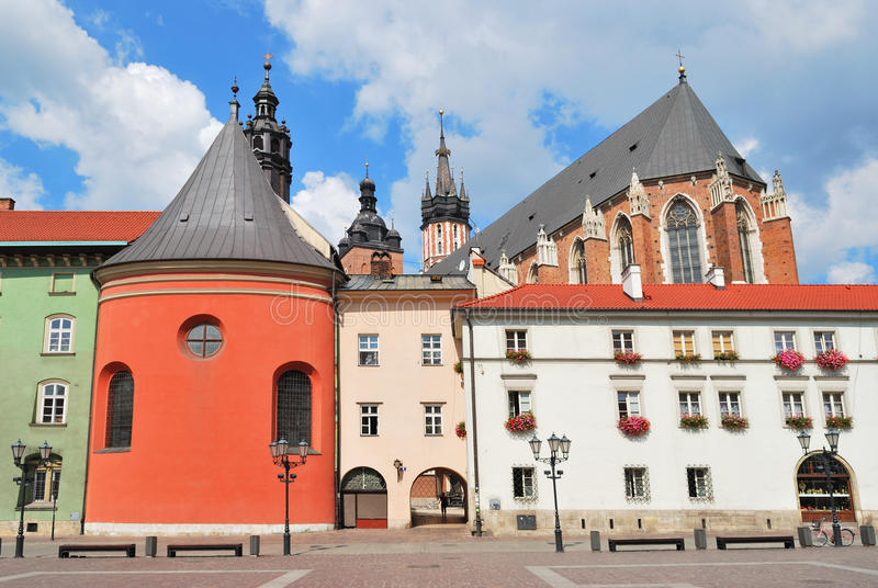 Krakow. Small Market Square. Very beautiful place in Krakow - Small Market Square royalty free stock photos
