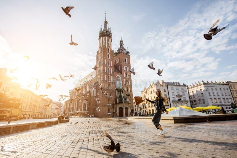 Krakow stad i Polen fotografering för bildbyråer