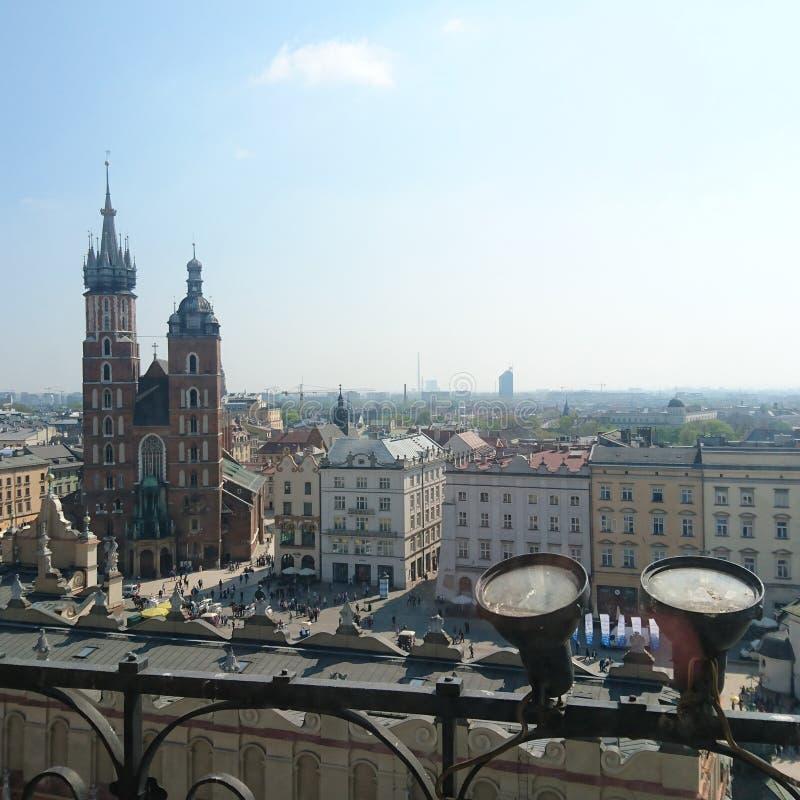 Krakow staden royaltyfria foton