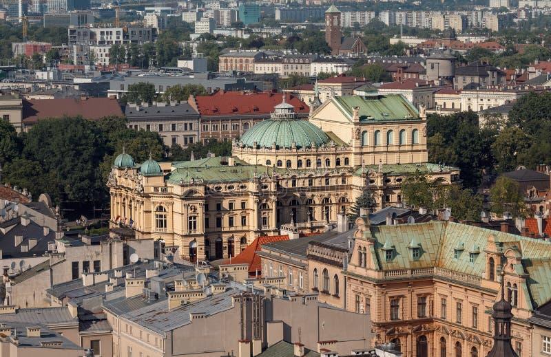 Krakow theatre w obszarach miejskich Polska fotografia royalty free