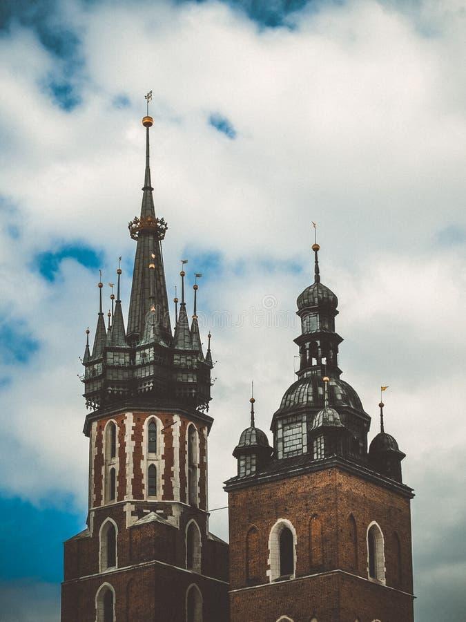 Krakow tower Poland stock image