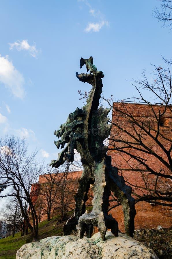 Krakow Wawel kasztel przy zmierzchem przy końcówką Luty, spokój ciepła przyjemna pogoda zdjęcia royalty free