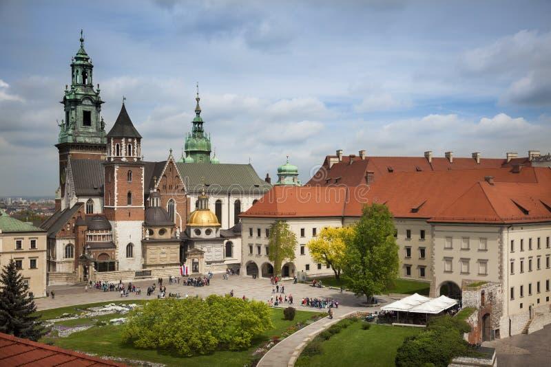 Krakow Wawel slottsikt royaltyfri bild