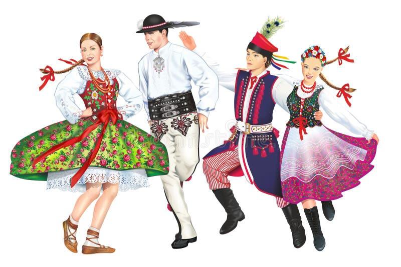 Krakowiacy e Gorale fotos de stock royalty free