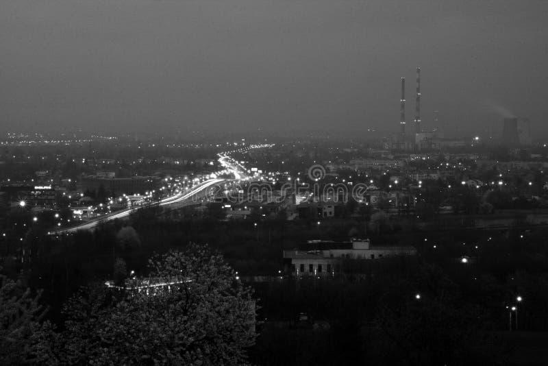 Krakows på nätterna fotografering för bildbyråer