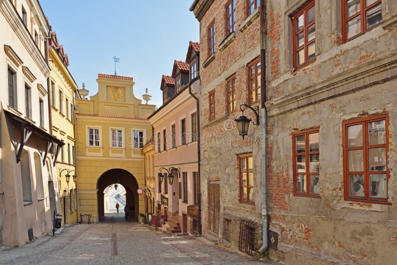 Krakowska brama w Lublin, Polska zdjęcie royalty free