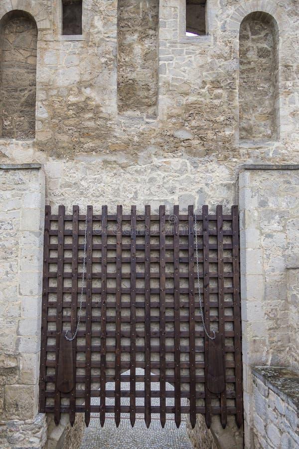 Krakowska Gate, part of the defensive walls, Szydlow, Poland. Szydlow, Poland- 23 May 2015: Krakowska Gate, part of the defensive walls guarding access to the royalty free stock images