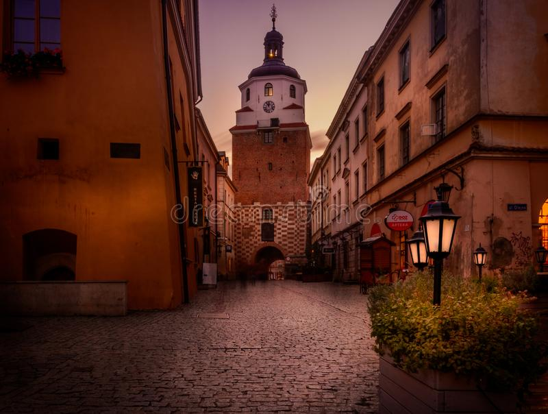 Krakowska port i Lubin royaltyfria bilder