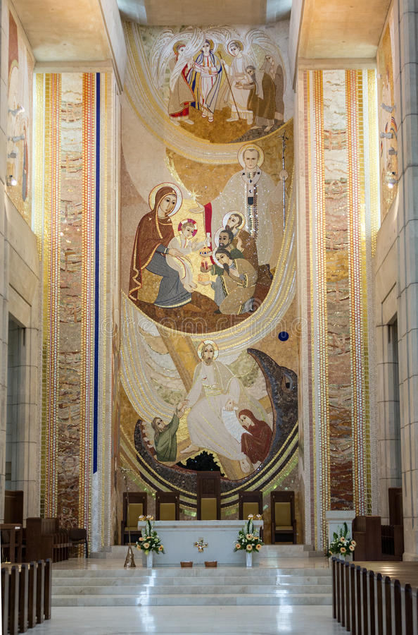 Krakowski, Lagiewniki - centre Pope John Paul II obraz stock