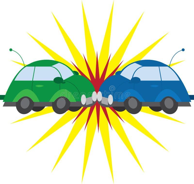 kraksa samochodowa royalty ilustracja
