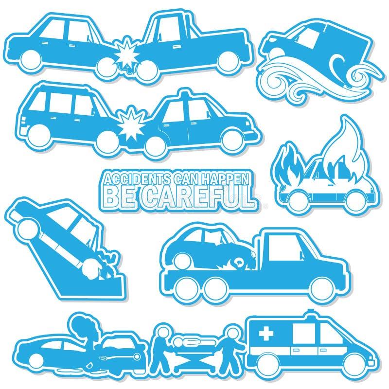 Kraksa samochodowa i wypadek w błękicie