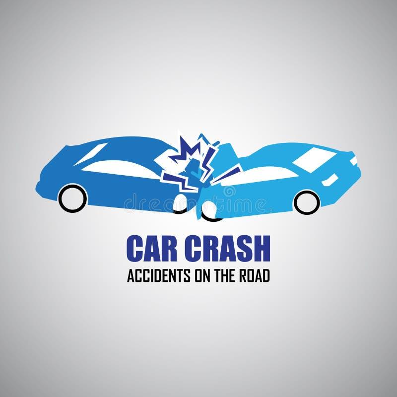 Kraksy samochodowej i wypadków ikony