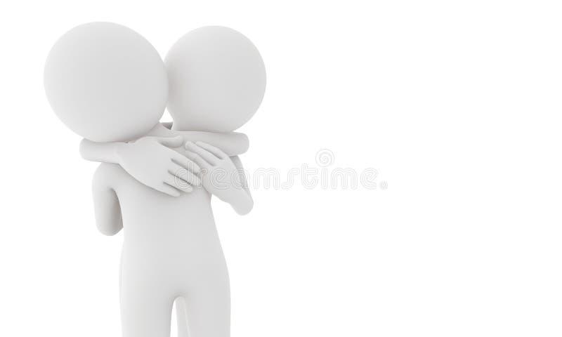 kram för man 3d med förälskelse vektor illustrationer
