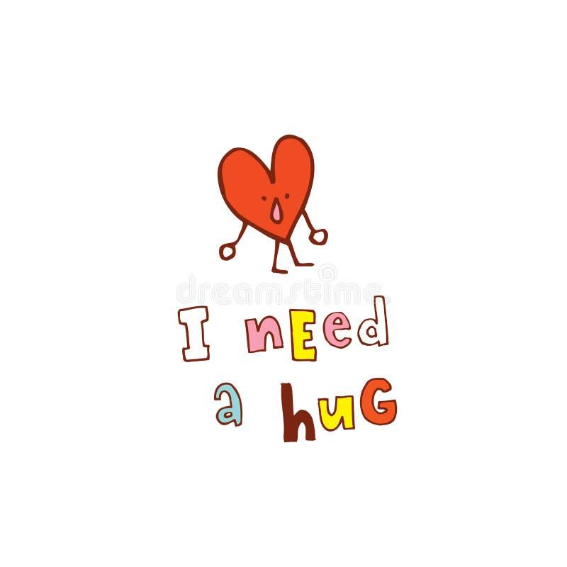 kram som jag behöver stock illustrationer