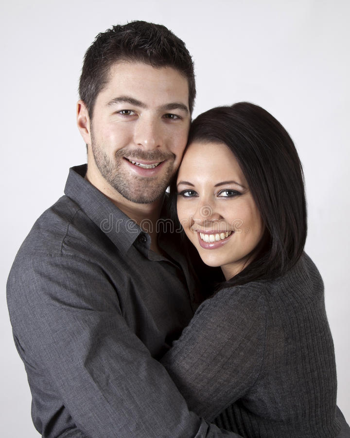 Krama för par. royaltyfri fotografi