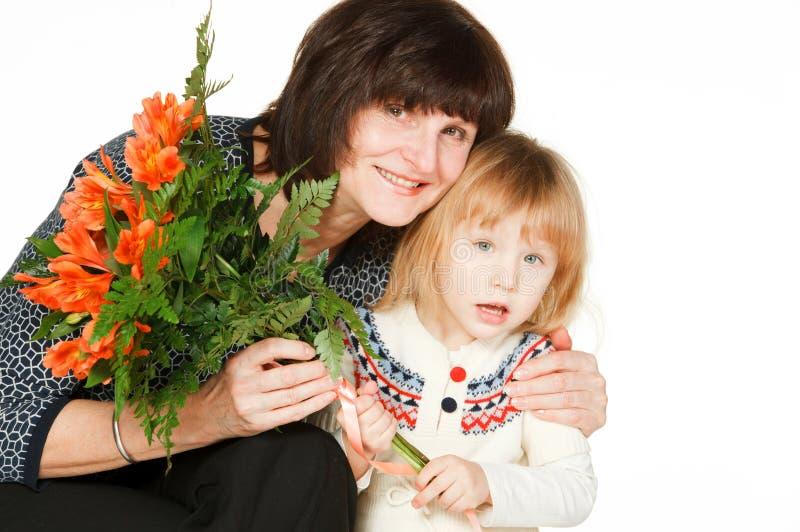 krama för sondotterfarmor fotografering för bildbyråer