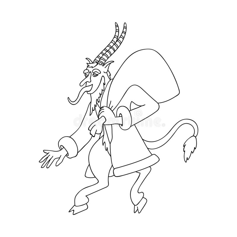 Krampus Mask coloring page   Free Printable Coloring Pages   800x800