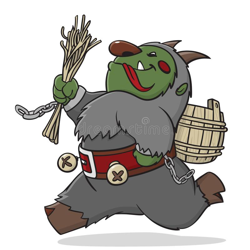 Krampus Diabo europeu do Natal imagem de stock